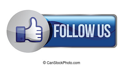 Social media or social network concept follow us, illustration