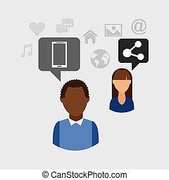 social media people community icon
