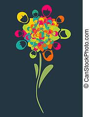 Social media people flower - Social media networks flower...