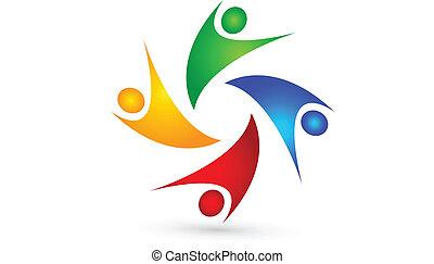Social media people logo