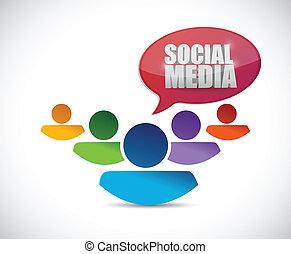 social media people team illustration