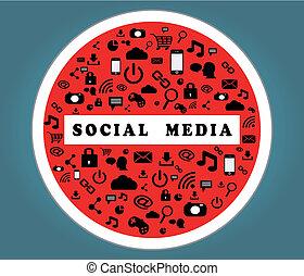 illustration of social media