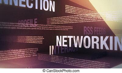 Social Media Related Words Loop