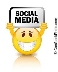 Social media smiley