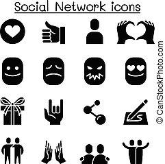 Social media & Social Network icon set