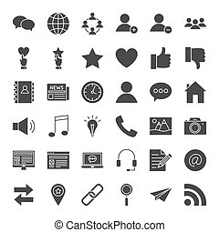 Social Media Solid Web Icons