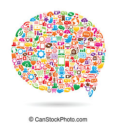 Social Media Speech Bubble - Vector Illustration of a social...