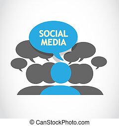 Social media speech