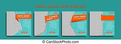 Social media story template. template post for ads. tosca green background design.
