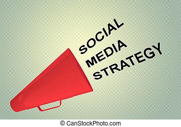 SOCIAL MEDIA STRATEGY concept