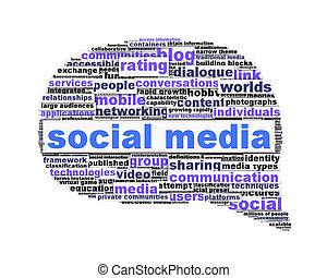 Social media symbol conceptual design isolated on white
