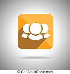 Social Media Symbol Flat design