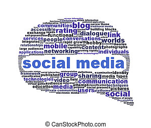 Social media symbol isolated on white