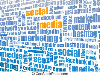 social media tagcloud illustration