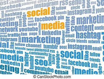 social media tagcloud illustration