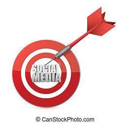 social media target illustration design