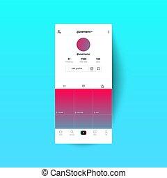 Social media templates modern design buttons web application.
