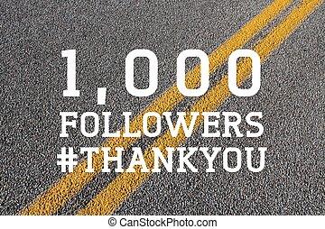 Social media thank you