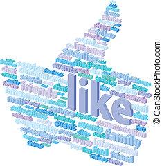 Social Media Thumb Up