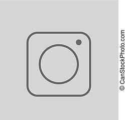 Social Media Vector Icon on Gray Background