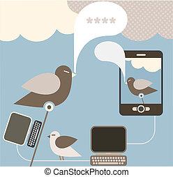 Social Media - vector illustration - Social Network - vector...