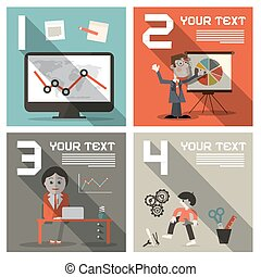 Social Media Vector Infographics UI Flat Design Layout