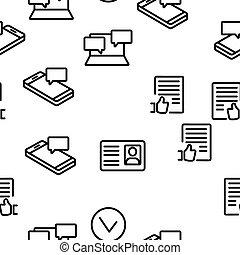 Social Media Vector Seamless Pattern