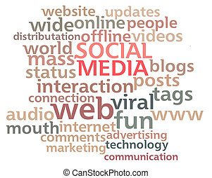 Social Media Word Cloud - Social Media word cloud showing...