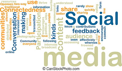 Social media wordcloud - Word cloud tags concept ...
