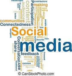 Social media wordcloud - Word cloud tags concept...