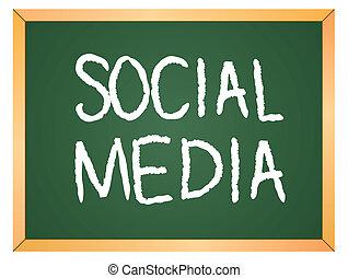 social media written on chalkboard