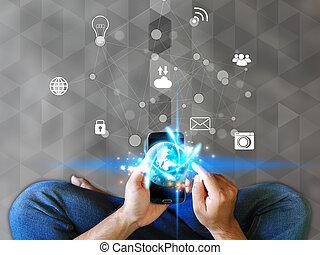 Social media,social network concept.