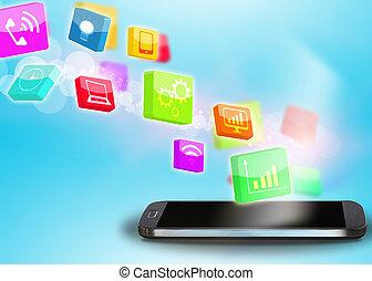 Social media,social network concept