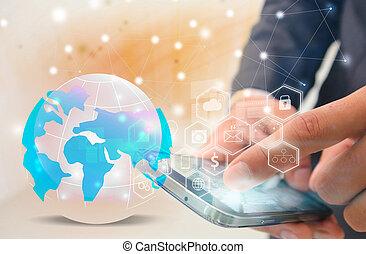 Social media,social network concept,communication