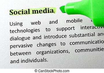 social, medios