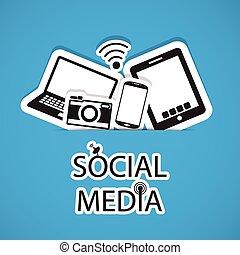 social, medios, comunicación, en, el