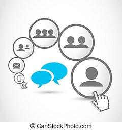 social, medios, comunicación, proceso