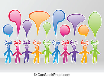 social, medios, comunidad