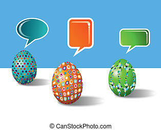 social, medios, decorativo, huevos de pascua