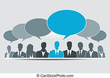 social, medios, grupo