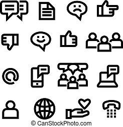 social, medios, iconos