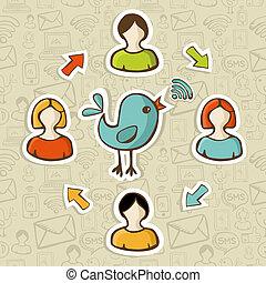 social, medios, rss, comida