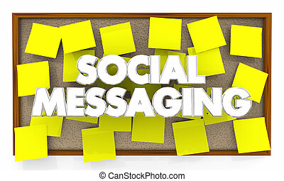Social Messaging Bulletin Board Network 3d Illustration