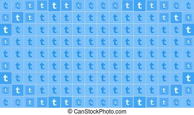 social, mouvement, tumblr, réseau, simple, fond, icônes