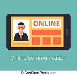 social, nätverk, begrepp