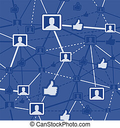 social, nätverk, seamless