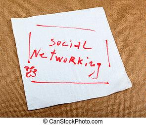 social, nätverksarbetande