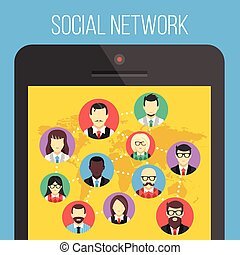 Social network and smartphone