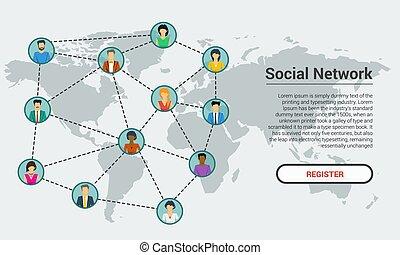 Social network - banner template