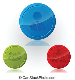 Social network button designs